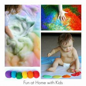 Simple Activities To do With Infants And Toddlers 36 Rainbow Activities For Babies, Toddlers, Preschoolers And Olde