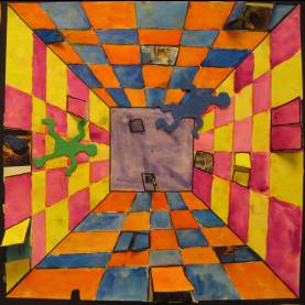 Simple Art Ideas For Grade 5 There'S A Dragon In My Art Room: Surreal Hallways By Gra