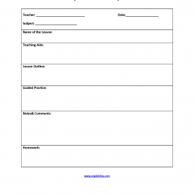 Simple Classroom Lesson Plan Template Teaching Aids Lesson Plan Template | Interactive Grammar Book