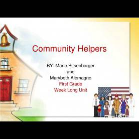 Simple Community Helpers Powerpoint Ppt - Community Helpers Powerpoint Presentation - Id:28