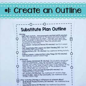 Simple Emergency Lesson Plans Middle School Six Simple Steps For Organized Emergency Sub P