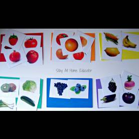 Simple Food Lesson Plans For Preschool Food Color Sort - Stay At Home Educator - Stay At Home Educ