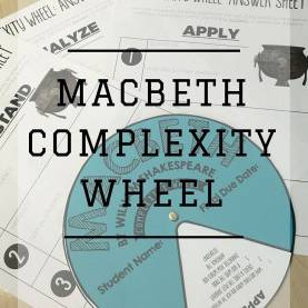 Simple High School English Lessons Complexity Wheel: Macbeth By William Shakespeare | High Schoo