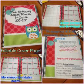 Simple Personalized Teacher Lesson Planner Just Keep Teaching: How I Made A Lesson Planner Template Work Fo