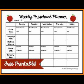 Simple Preschool Lesson Plan Template Pdf 12+ Preschool Lesson Plan Template | Cover Title