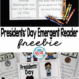 Simple President Lesson Plans Presidents' Day Emergent Reader | Social Studies Lesson Plan