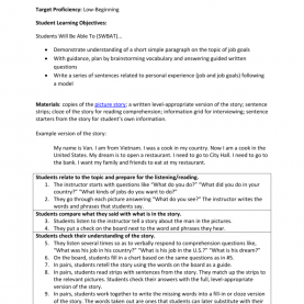 Simple Reading Comprehension Lesson Plan Objectives Sample Lesson Plan * My Hopes And Dr