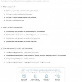 Simple Reading Lesson Plans For Learning Disabled Students Quiz & Worksheet - Reading Strategies For Learning-Disable