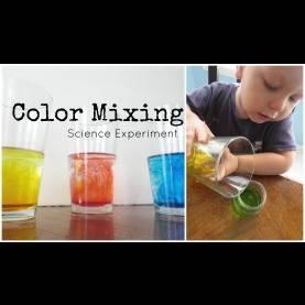 Simple Science Experiments For Preschoolers Simple Color Mixing Science Experiment For Preschoo