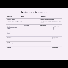 Simple Updated Lesson Plan Format Sample Lesson Plan Format - Fieldstatio