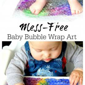 Special Activities For Infants And Toddlers In Child Care Baby Bubble Wrap Art - Sensory Baby & Toddler Activity | Sensor