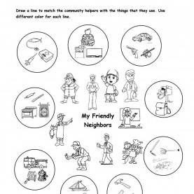 Special Community Helpers Kindergarten Worksheets My Friendly Neighbors | My Community | Pinte