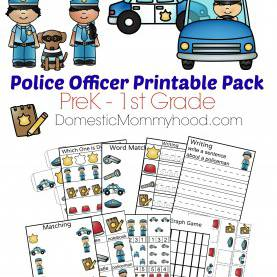 Special Community Helpers Police Officer Worksheet Community Helpers Week Theme Pre-K Printable (Police Office