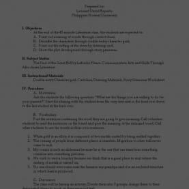 Special Detailed Lesson Plan In Literature For High School Quiz Worksheet Character Traits In Literature Study Com Stunnin