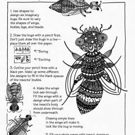 Special Elementary Art Lesson Plans For Substitutes Free: Ande Cook'S Insects In Line Handout With Complete Substitut