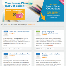 Special Free Lesson Plan Websites For Teachers Print Teacher-Reviewed Worksheets And Lesson Plans About Synectic