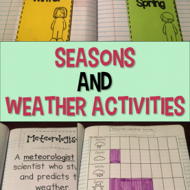 Special Kindergarten Lesson Plans On Seasons Seasons And Weather Unit Interactive Notebook | Kindergarte