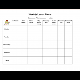Special Lesson Plan Format Weekly 4+ Preschool Weekly Lesson Plan Templatereport Template Documen