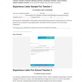 Special Lesson Plan Sample For Teaching English Teaching Experience Certificate Examples Allowed See Sample Forma