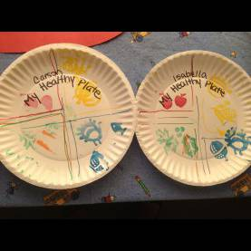 Special Lesson Plans For Preschool Nutrition Preschool Craft- My Healthy Plate/ Choose Your Plate Food Stampin