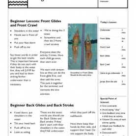 Special Parent Child Swim Lesson Plans Swim Lesson Plan €? Beginner Lesson Template | Swimming Lessons I