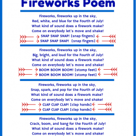 Special Preschool Lesson Plans 4Th Of July 4Th Of July Poem And Movement Activity For Kids | Firework Poem
