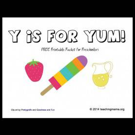 Special Preschool Lesson Plans Letter Y Y Is For Yum -- Letter Y Printables | Activities, School And Lite