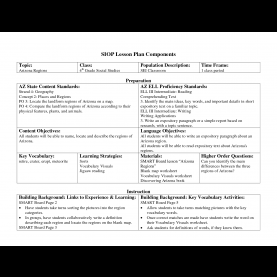 Special Siop Lesson Plan Template Science Siop Lesson Plan Examples - Targer.Golden-Drago