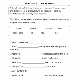 Special Sound Lesson Plans 4Th Grade Englishlinx.Com | Alliteration Worksh