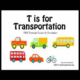 Special Transportation Lesson Plan For Preschool T Is For Transportation -- Letter T Printables | Transportatio