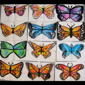 Top 2Nd Grade Lesson Plan On Butterflies Cassie Stephens: In The Art Room: 2Nd Grade Printed And Chalke