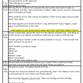 Top 2Nd Grade Lesson Plans For First Week Of School First Day Of School Lessons   School Lessons, Teacher And Sc