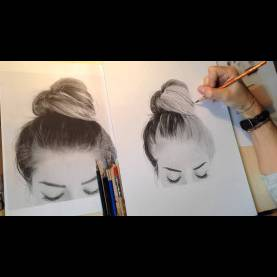 Top Charcoal Drawing Lessons Full Time Lapse Drawing Of Shy By Giorgio Arcuri - Hair Tutoria