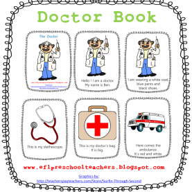 Top Community Helpers Doctor Lesson Plans Community Helper Printable Book Esl/efl Preschool Teachers | Es