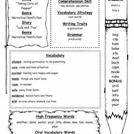 Top Comprehension Lesson Plans 2Nd Grade Wonders Second Grade Unit One Week Four Print