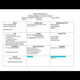 Top Creative Curriculum Planning Creative Curriculum Lesson Plan Template | Best Template
