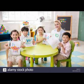 Top English Class For Kindergarten English Class At Kindergarten Stock Photo, Royalty Free Imag