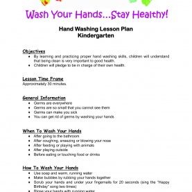 Top Hands On Lesson Plans Kindergarten Lesson Plan | Hand Washing Lesson Plan Kindergarte