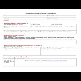 Top Lesson Plan Template Charlotte Danielson Pre-Observation Lesson Planning Template Aligned With Fft Ru