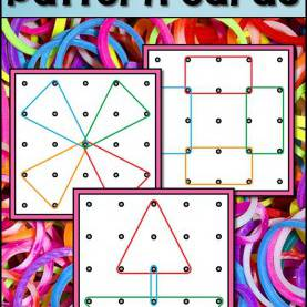 Top Pre-K Geometry Lesson Plans Geoboards Task Cards | Kindergarten, Shapes And Patt