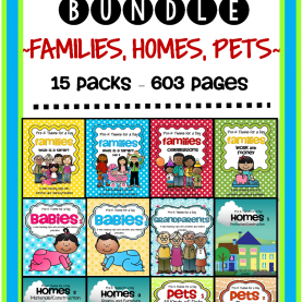 Top Pre K Units And Themes November Curriculum 15 Themes Bundle - Families, Homes, Pet