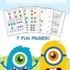 Top Pre Kindergarten Learning Activities Monster Math Pack For Pre-K To 1St Grade | Pre Kindergarten, Mat