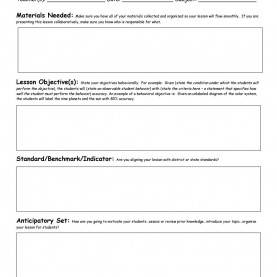 Top Preschool Lesson Plan Objectives Examples 44 Free Lesson Plan Templates [Common Core, Preschool, Wee
