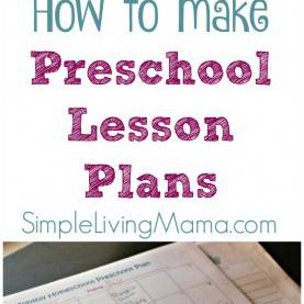 Top Preschool Lesson Plans How To Make Preschool Lesson Plans - Simple Living