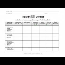 Top Reading Intervention Plan Template 3-Tier Reading Model Action Plan: Template | Buildin