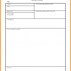 Top Technology Grade 8 Lesson Plans 8+ Basic Lesson Plan Template | Cover Title