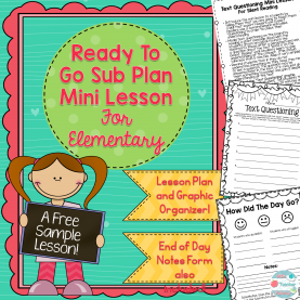 Top Where To Buy Teacher Lesson Plan Book This Lesson Plan Is Ready To Go For Your Substitute Teacher! Th