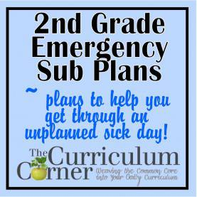 Trending 2Nd Grade Lesson Plans Common Core 2Nd Grade Emergency Sub Plans - The Curriculum Corne