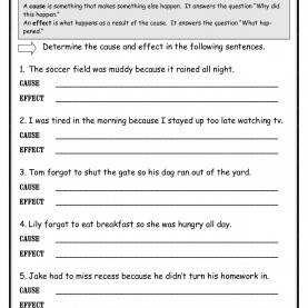 Trending 3Rd Grade Lesson Plans Cause And Effect Cause And Effect Worksheets From The Teacher'S G