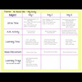 "Trending Fall Activities For Toddlers Lesson Plans My Body"" Lesson Plan 